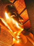 A golden buddha head