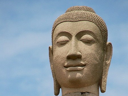 Thai Buddha Head.